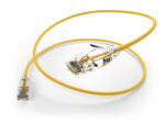 image of a 28AWG cat6a yellow patch cable connector
