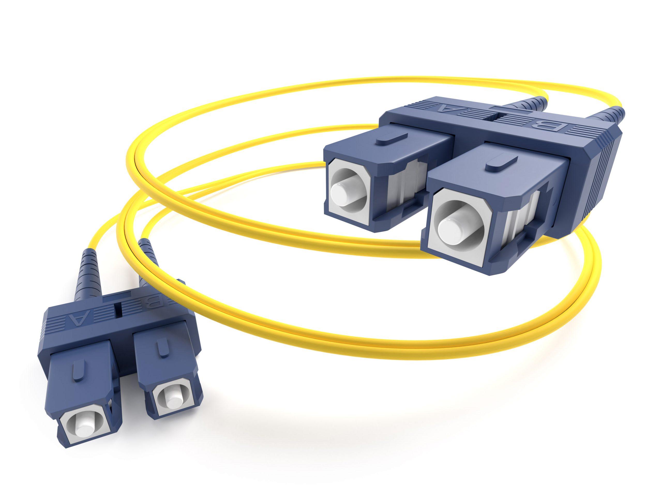image of a singlemode SC-SC fiber optic cable