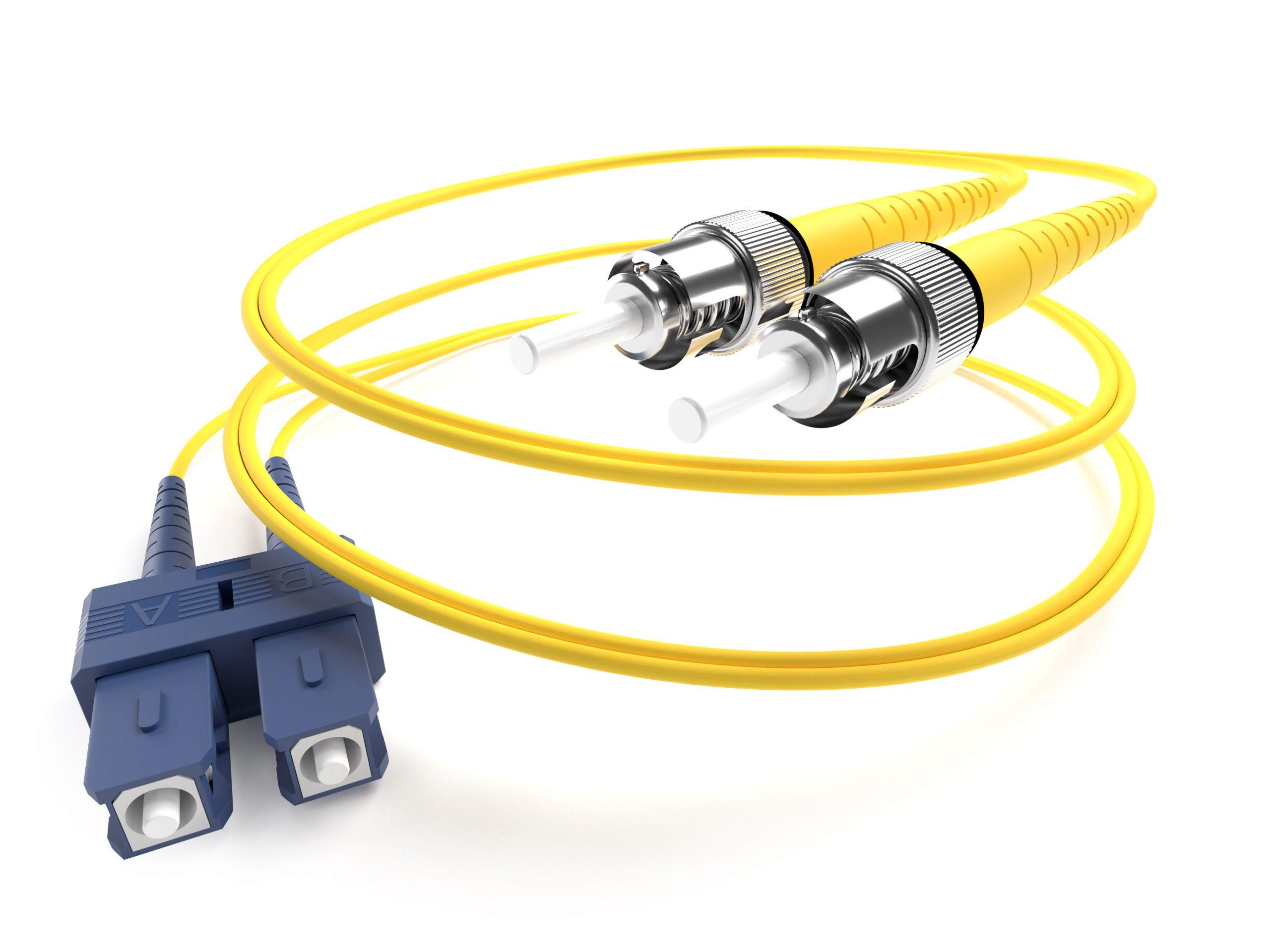 image of a ST-ST singlemode fiber optic cable