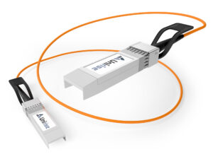 image of a SFP active over fiber cable