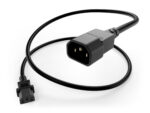 C13 to C14 black power cord