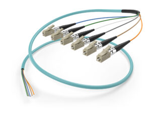 Image of OM3 6 fiber LC pigtail