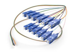 Image of 12 fiber SC Singlemode fiber optic pigtail